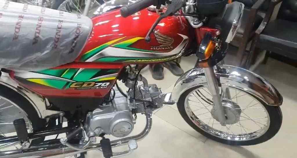 Honda CD70 2022 Red Color